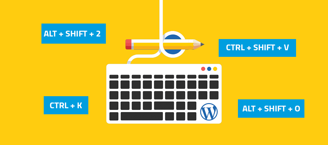 100 Time Saving WordPress Keyboard Shortcuts